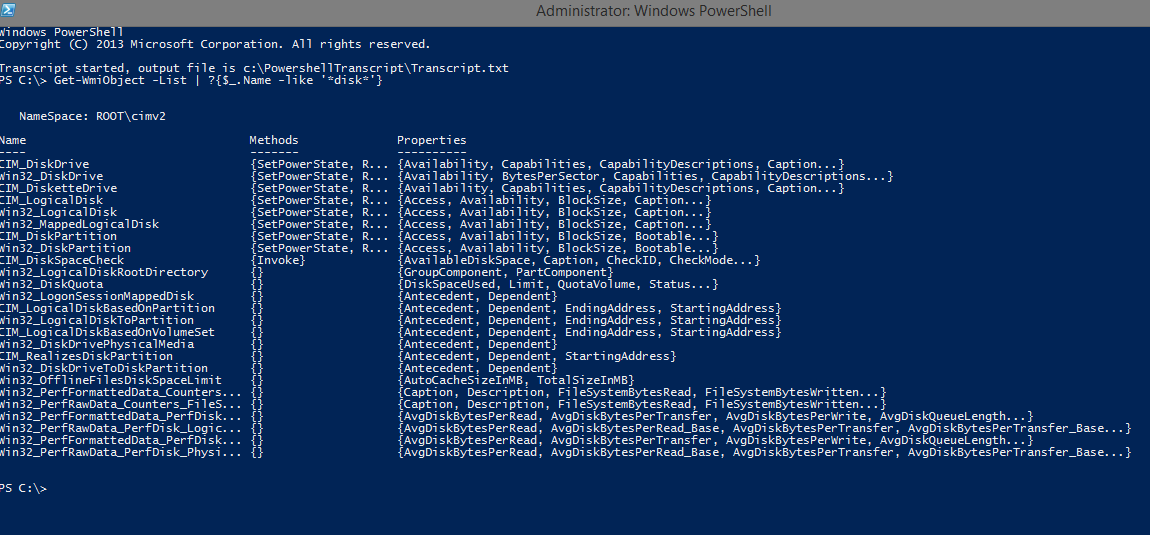 Checking Available Disk Space and Memory with Powershell