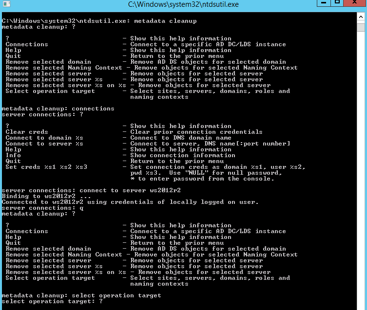 ntdsutil fix active directory