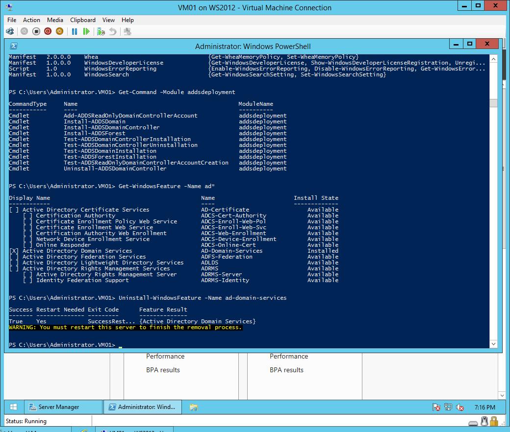 Demoting the last Windows Server 2012 R2 Domain Controller