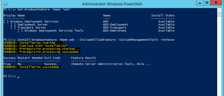 Setting Up a WS2012 R2 Windows Deployment Server (WDS) for