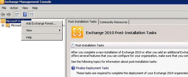 Configuring Hybrid Configuration on Exchange Server 2010 SP3 for
