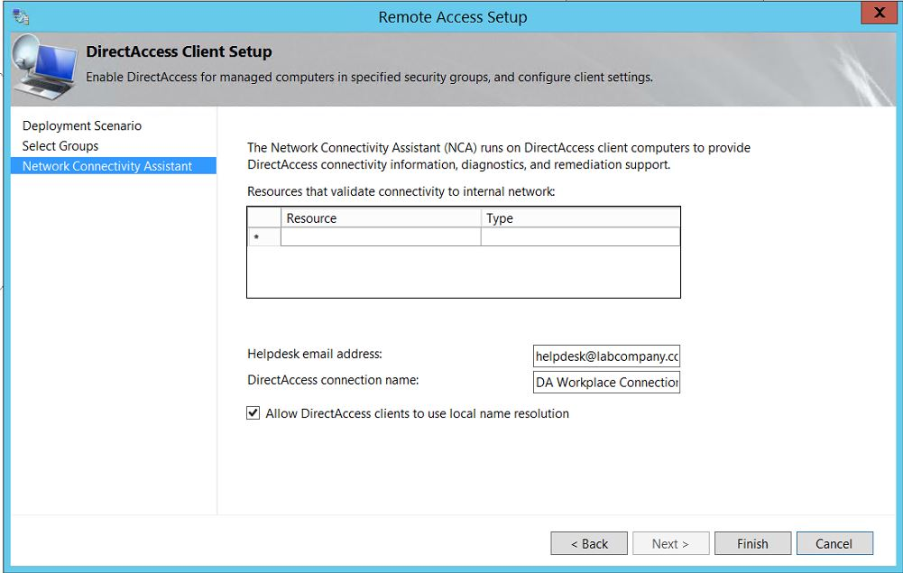 My Step-by-Step DirectAccess Configuration on Windows Server