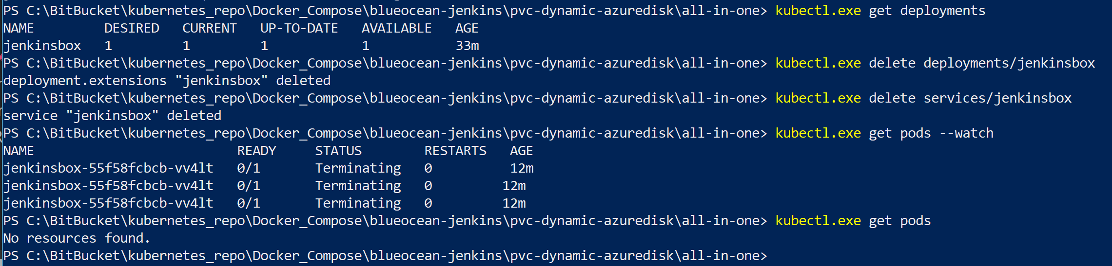 Provisioning a Jenkins Instance Container with Persistent